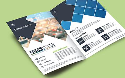 a5 half fold 130 gsm brochure printing customizing half fold