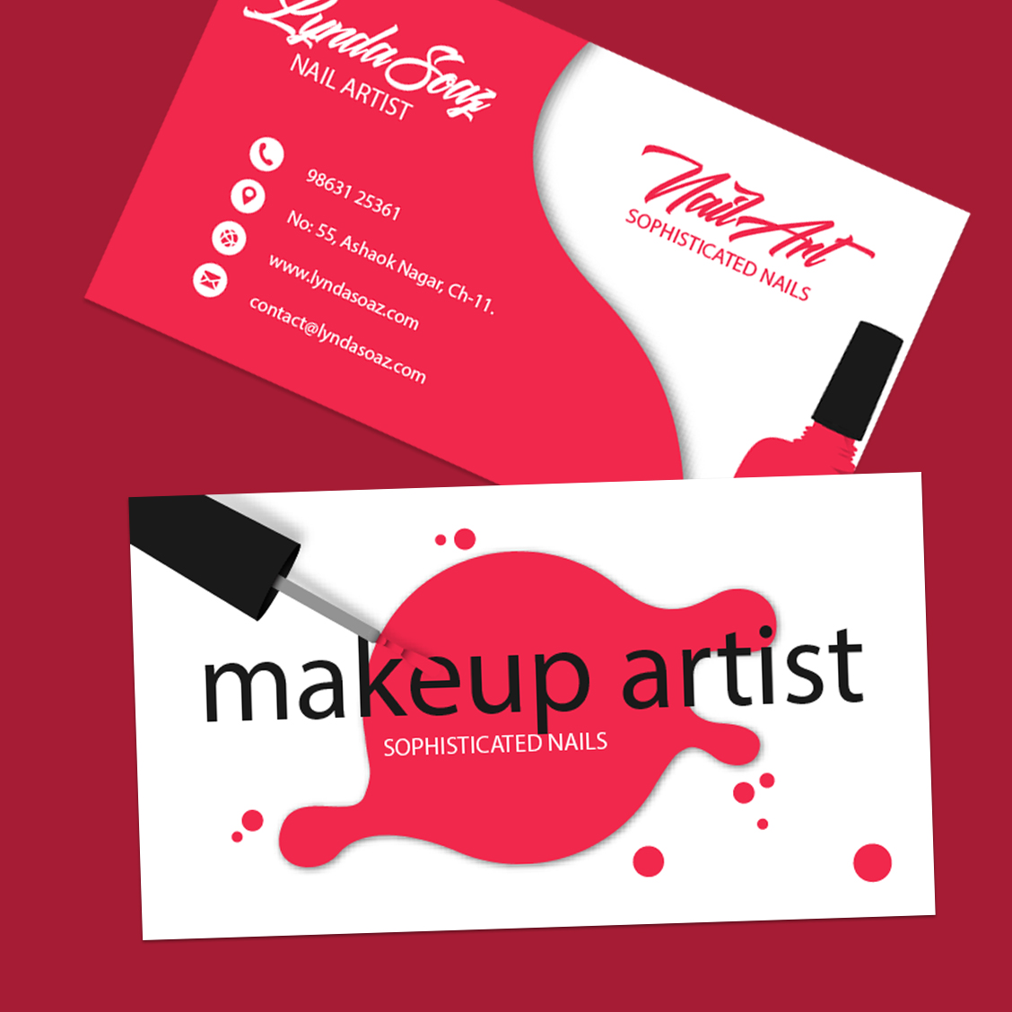 Makeup artist business cards inkmonk makeup artist business cards colourmoves