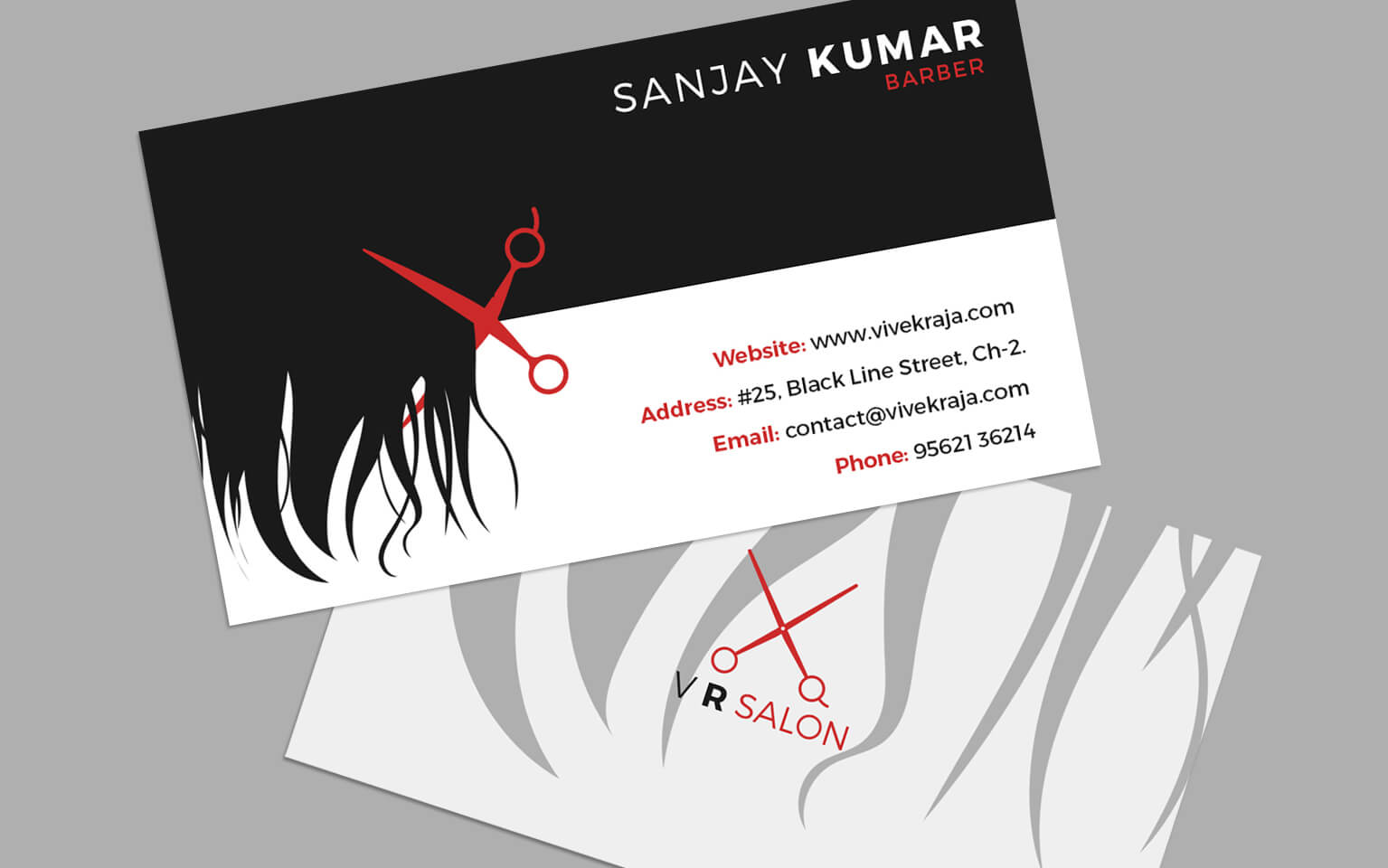 Salon business cards colourmoves
