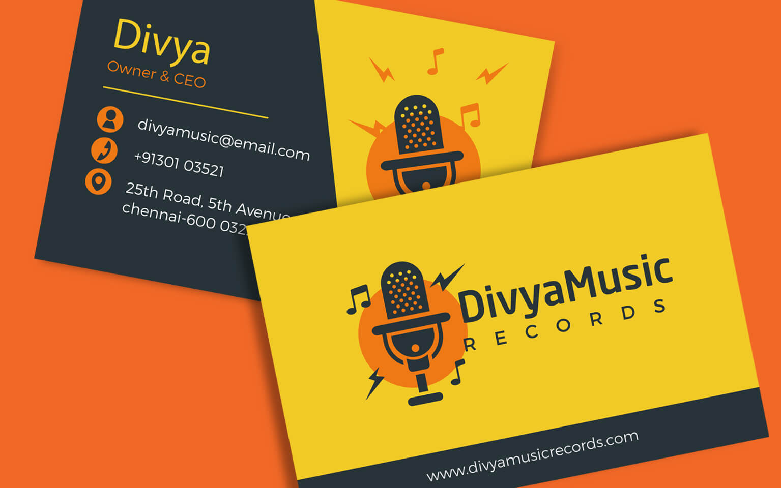 Music visiting card visiting card design for musicians music visiting card visiting card design reheart Choice Image