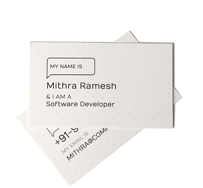 Visiting card 100 business cards online for rs70 best quality modern size reheart